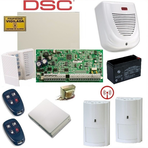 Kit Alarma Inalambrica Dsc 1616 Con Controles Y Sensores