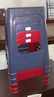 Banco Banquito Plastico Manaplas Y Alfa Hogar