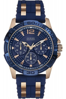 Reloj Hombre Guess W0366g4 Sporty Rose Gold-tone Original