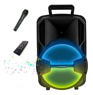 Parlante Bluetooth Portatil Batería Color Luces Led Regalo