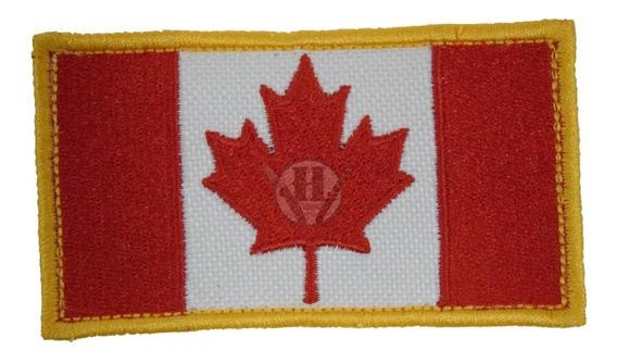 Parche Bordada Bandera Canada Clasica Abrojo Canadiense