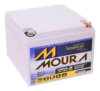 Bateria Moura Vrla Agm 12mva-26 12v 26ah P/ Panel Solar