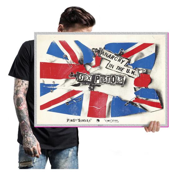Sex Pistols Poster Quadro Placa Bandas Punk Rock T. A2 11