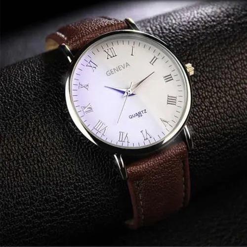 Relógio Geneva Barato, Com Pulseira De Couro.