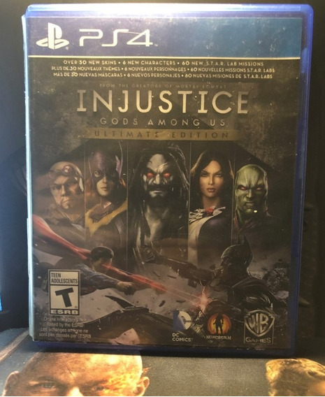 Injustice Ultimate Edition - Ps4 - Mídia Física (usado)