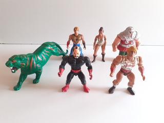 Lote He Man : 6 Figuras + Armas Y Accesorios