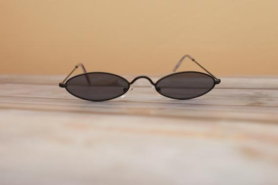 Óculos De Sol Retro Vintage Oval Redondo