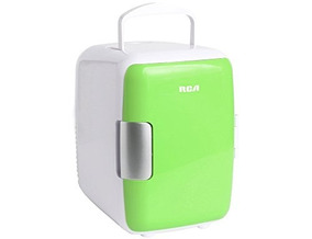Mini Refrigerador, Color Verde, Rca Rc-4wg Auto-oficna