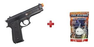 Pistola Airsoft Taurus Pt92 Power Black + Bbs 2000un 0.12g