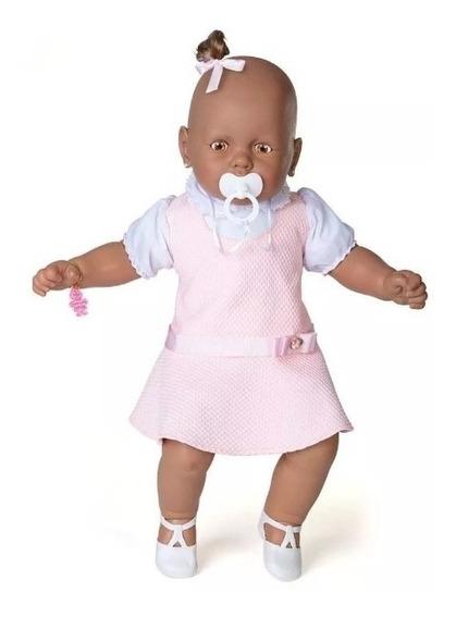 Boneca Meu Bebê Negro - Vestido Rosa 60 Cm - Estrela