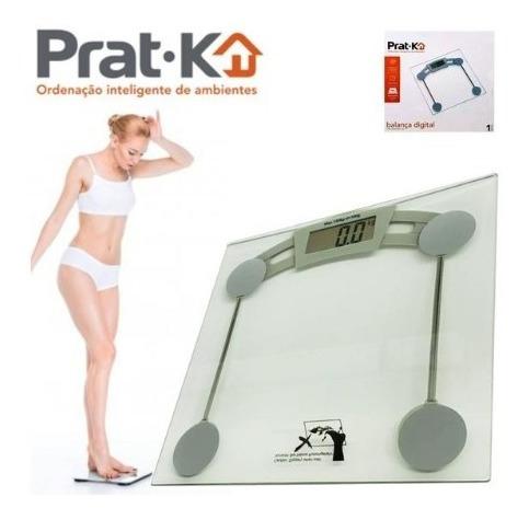 Kit 2 Balança Digital Corporal De Vidro Banheiro Clinica 15