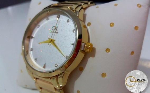 Relógio Ck Feminino Elegance Dourado