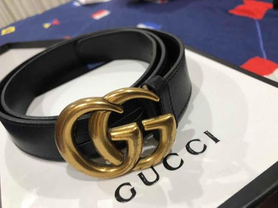 Cinturón Gucci Original Tipo Doble Gg (semi-nuevo)