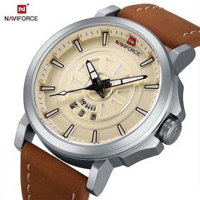 Relógio Masculino Naviforce Couro Original A Prova D
