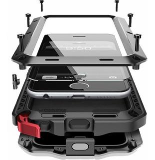 Capa Case iPhone 5 5s Se 6s 6 7 8 Plus X Xr Xs Max Anti Shock Armadura Prova Choque Impacto Queda Metal Blindada