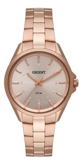 Relógio Orient Feminino Frss0046 R1rx Rose Analogico Oferta