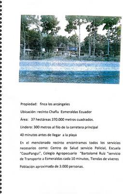 Recinto Chaflu, De 37 Has, Lindero De 300 Mts A La Carretera