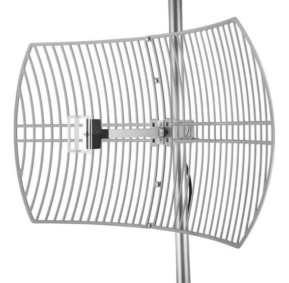 Antena Grillada 2,4 Ghz. 19dbi Rango Extendido