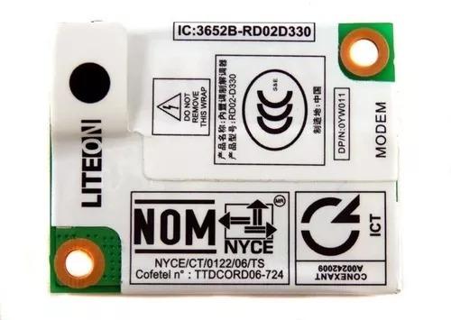 Placa Fax Modem Conexant Notebook Dell E Outros Cód.0yw011
