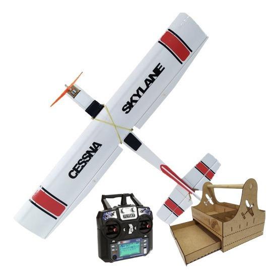 Aeromodelo Avião Cessna Completo Com Controle 6 Canais Kit 5