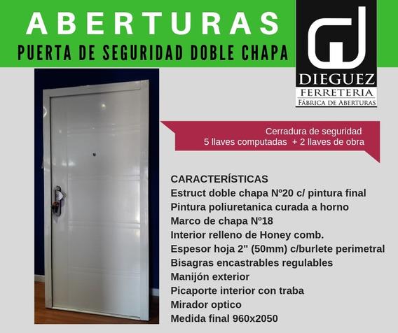 Puerta Exterior De Seguridad Blanca Llave Computada Cerrojo