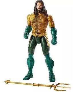 Figura Aquaman Ataque De Tridente Dc Mattel + 10 Sonidos