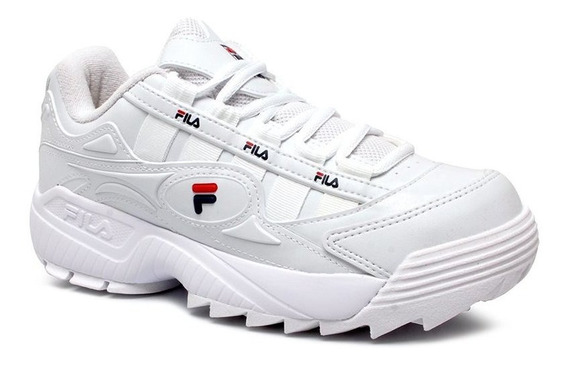 Tênis Dad Sneaker Flatform Fila Formation 51u386x Branco