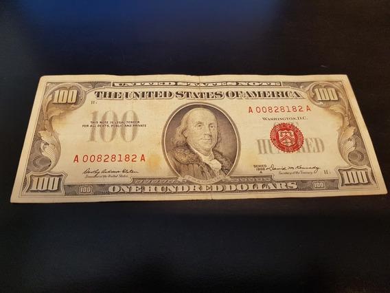 Nota De 100 Dólares Antiga Ano 1966 Colecionador