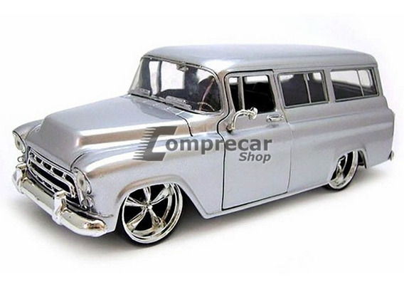 Miniatura Chevy Suburban 1957 Prata Jada Toys 1/24
