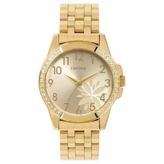 Relógio Condor Feminino Dourado Pedras Co2035moz/4d