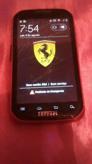 Celular Motorola Ferrari Funcionando Mais Trincado