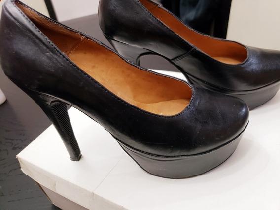 Zapatos Cuero..n 36 ..tienen 2 Usos Festivos!.