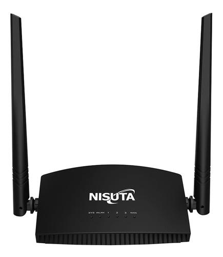 Router Nisuta NSWIR302N negro 1 unidad