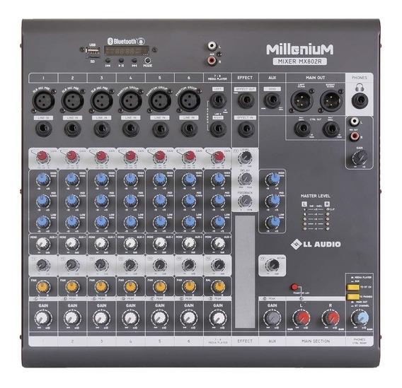 Mesa De Som 8 Canais C/ Usb/sd Bluetooth Mx802r - Ll Audio