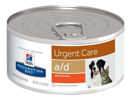 Imagen 1 de 1 de Alimento Hill's Prescription Diet Urgent Care A/d Para Perro/gato Todos Los Tamaños Sabor Pollo En Lata De 156g