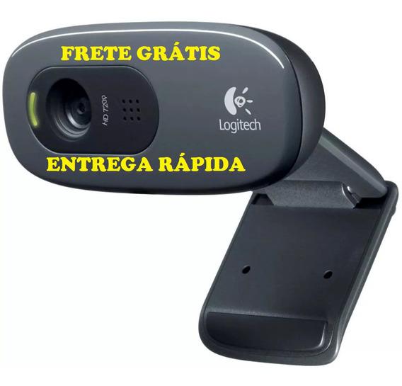 Câmera Web Logitech C270 Hd 720p Webcam Funciona Em Pc Notebook Xbox One Web Cam Com Microfone Cabo Usb 2.0 1.5m
