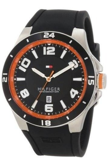 Tommy Hilfiger 1790861 Sport Bezel And Silicone Strap Watch