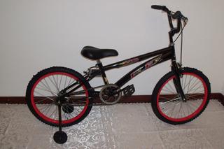 Bicicleta Rodado 20 Cross Con Rueditas Flex
