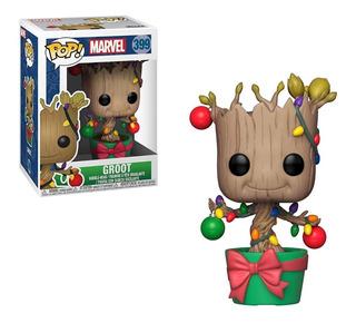 Funko Pop Marvel - Dancing Groot Holiday 6/c S/int Xion
