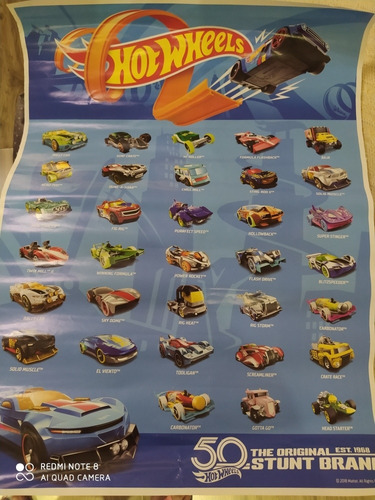 Pôster Carros Hot Wheels Ano 2018