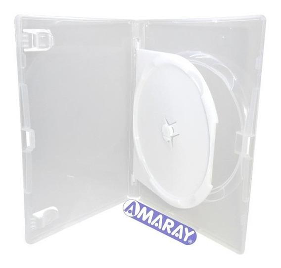 50 Estojo Caixa Capa Box Dvd Amaray Transparente Duplo 2 Filme