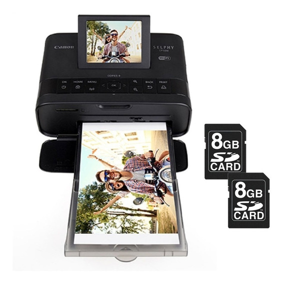 Impressora Fotográfica Canon Selphy Cp1300 Wi-fi + 2 Sd 8gb
