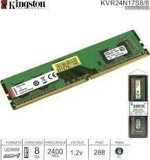 Memoria Kingston 8gb Ddr4 2400 Mhz