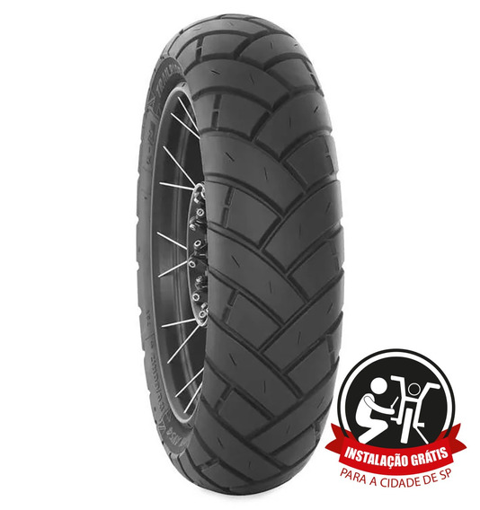 Pneu Traseiro Avon Trailrider 180/55zr17 73w Motos Big Trail
