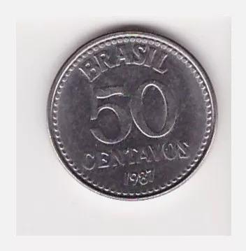 Moeda De 50 Centavos De 1987, Inox, Soberba (5015)