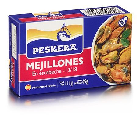 Mejillones En Escabeche Peskera 13/18 111gr