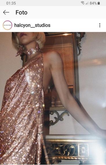 Vestido Cristal Brillos. Hermoso Marca Halcyon Studios