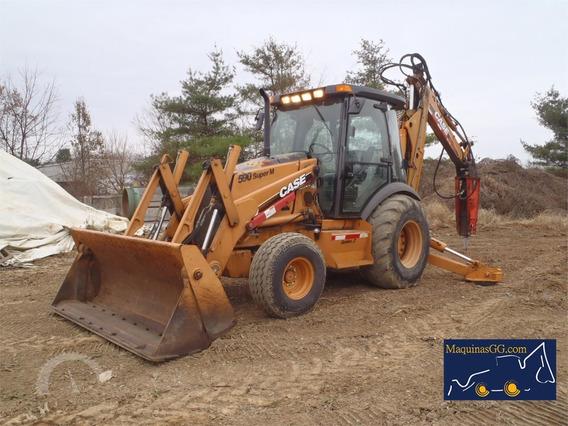 Retroexcavadora Case 590sm 4x2 Cab A/c, Martillo Hidra, 2006