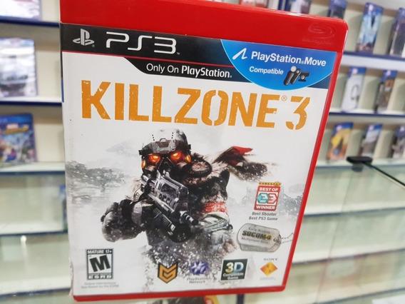 Killzone 3 Usado Original Manuais Ps3 Mídia Física