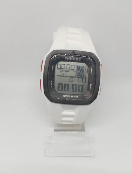 Relógio Masculino Branco Shock